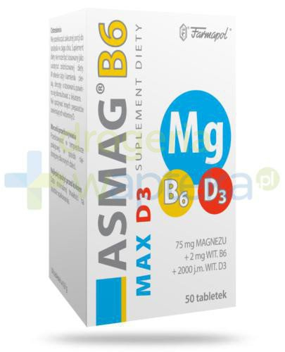 Asmag B6 Max D3 50 tabletek