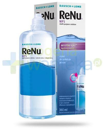 ReNu MPS Sensitive Eyes płyn do soczewek czyści dezynfekuje płucze 360 ml