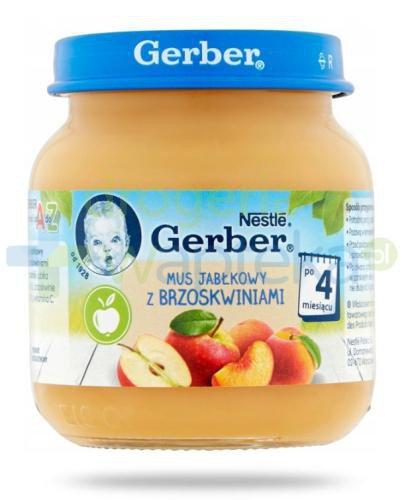 Nestlé Gerber Mus jabłkowy z brzoskwiniami po 4 miesiącu 125 g