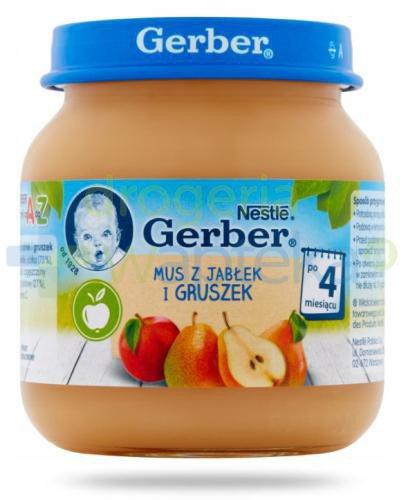 Nestlé Gerber Mus z jabłek i gruszek po 4 miesiącu 125 g