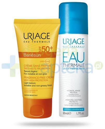 Uriage Bariesun krem do skóry wrażliwej SPF 50+ 50 ml + Uriage Eau Thermale woda termaln...