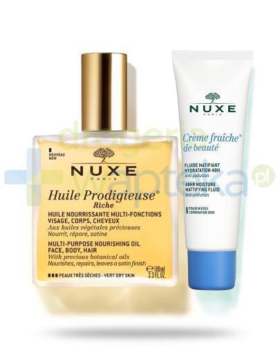 Nuxe Huile Prodigieuse Riche intensywnie odżwiający olejek do pielęgnacji twarzy, ciał...
