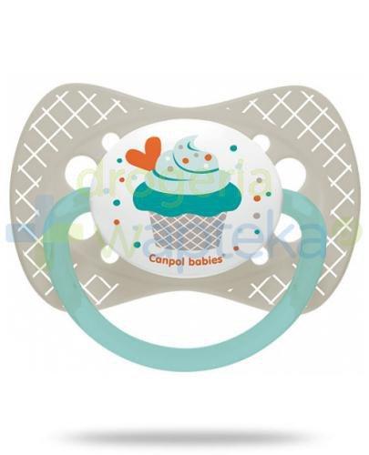 Canpol Babies smoczek silikonowy symetryczny cupcake szary 18m+ 1 sztuka [23/284]