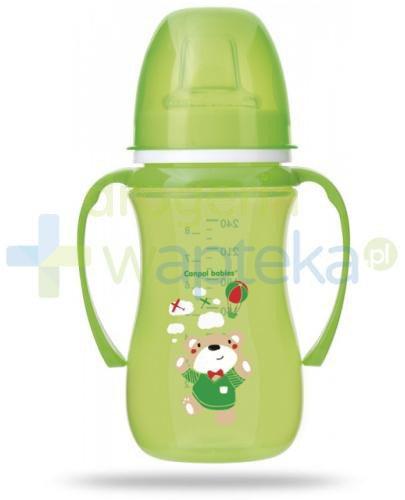Canpol Babies EasyStart Sweet fun kubek treningowy 6m+ zielony miś 240 ml [35/208]