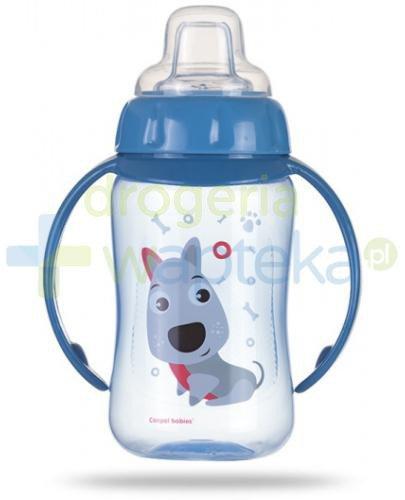 Canpol Babies Cute Animals kubek treningowy z silikonowym ustnikiem i uchwytami niebieski ...