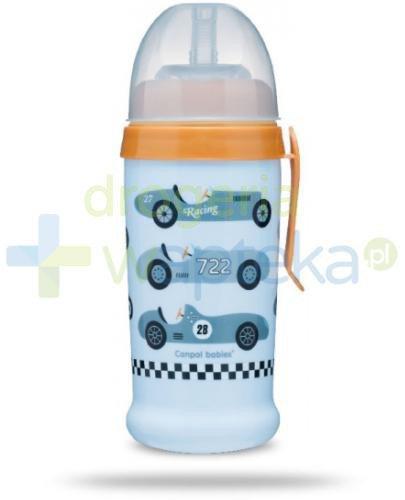 Canpol Babies bidon niekapek Racing 12m+ jasnoniebieski kabriolet 350 ml [56/516]