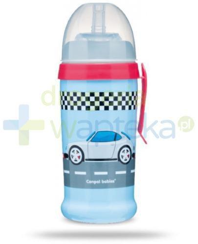 Canpol Babies bidon niekapek Racing 12m+ niebieski porsche 350 ml [56/516]