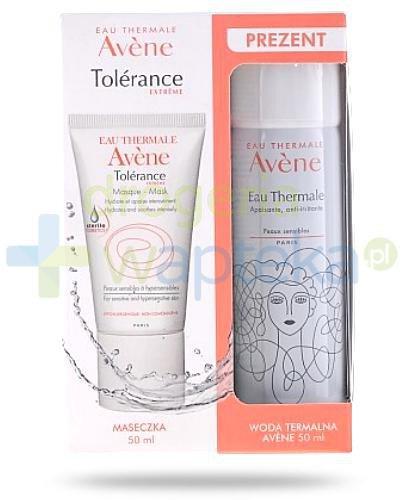 Avene Tolerance Extreme maseczka nawilżająco kojąca 50 ml + łagodząca mgiełka wody t...