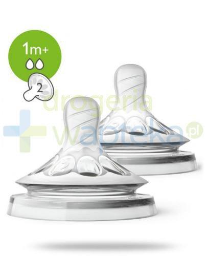 Avent Philips Natural smoczek silikonowy o wolnym wypływie 1m+ 2 sztuki [SCF042/27]