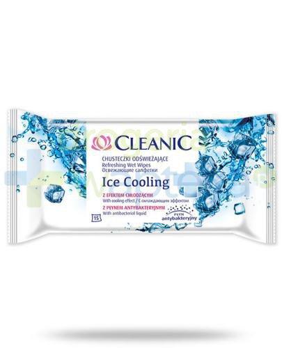 Cleanic Ice Cooling chusteczki antybakteryjne skutecznie oczyszczające i odświeżając...