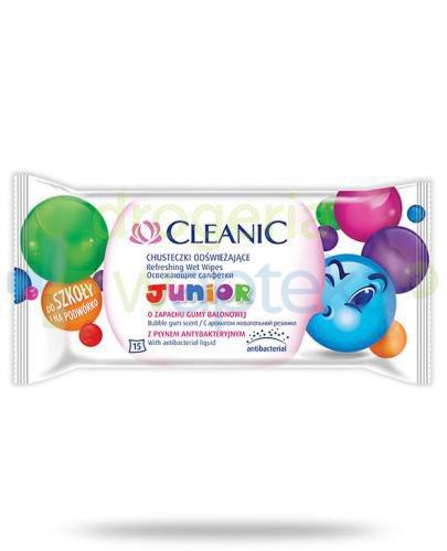 Cleanic Junior chusteczki odświeżające 15 sztuk