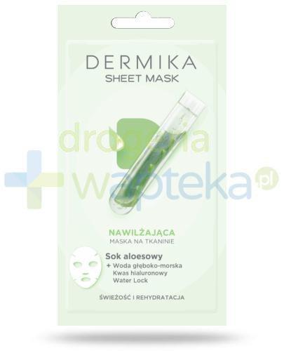 Dermika Sheet Mask nawilżająca maska na tkaninie na bazie soku aloesowego 17 g