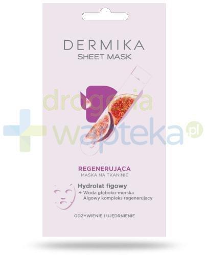 Dermika Sheet Mask regenerująca maska na tkaninie hydrolat figowy 17 g