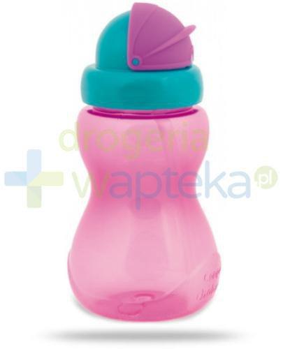 Canpol Babies bidon sportowy ze składaną rurką dla dzieci 12m+ różowy 270 ml [56/109_...