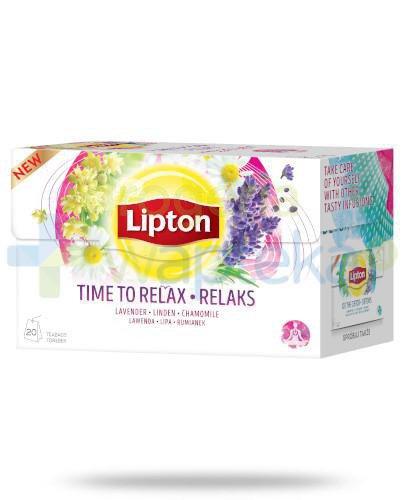 Lipton Relaks Herbatka ziołowa 20 torebek [KUP 3 dowolne produkty Lipton = szklanka GRATI...