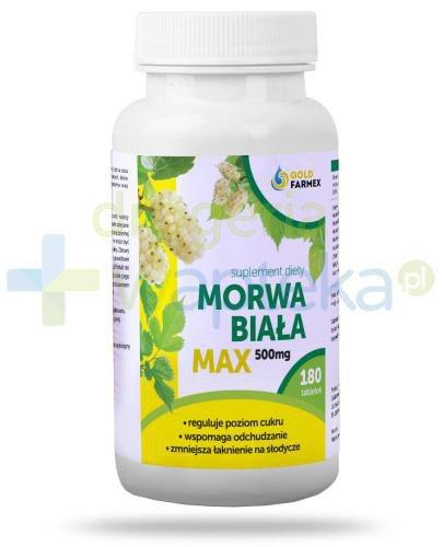 GoldFarmex Morwa biała Max 500 mg 180 tabletek