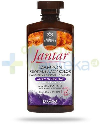 Farmona Jantar szampon rewitalizujący kolor włosy blond i siwe 330 ml