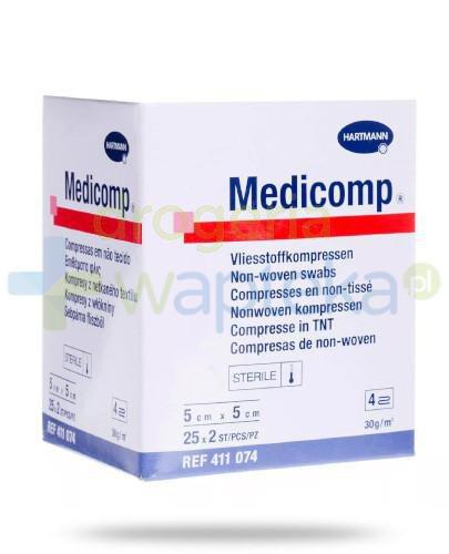 Hartmann Medicomp Kompresy jałowe 5x5cm 50 sztuk