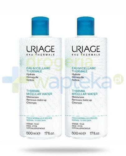 Uriage Eau Thermale woda micelarna do skóry normalnej i wrażliwej 2x500 ml [DWUPAK]