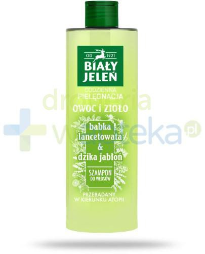 Biały Jeleń Owoc i Zioło szampon do włosów babka lancetowata & dzika jabłoń 400 ml