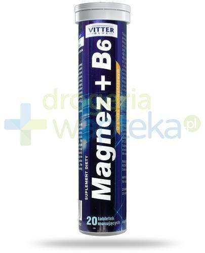 Vitter Blue Magnez + B6 o smaku pomarańczowym 20 tabletek musujących