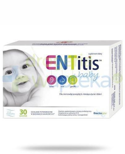 ENTitis Baby smak neutralny dla niemowląt powyżej 6 miesiąca życia i dzieci 30 saszete...