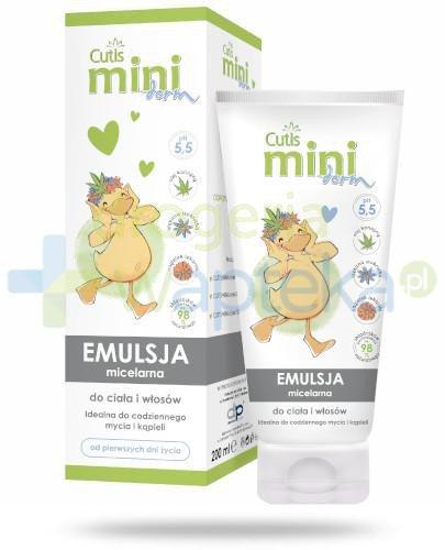 Cutis Mini derm emulsja micelarna do ciała i włosów 200 ml
