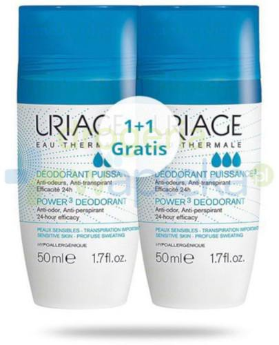 Uriage Eau Thermale antyperspirant roll-on 50 ml [DWUPAK]