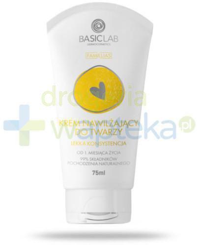 BasicLab Famillias nawilżający krem do twarzy lekka konsystencja 75 ml