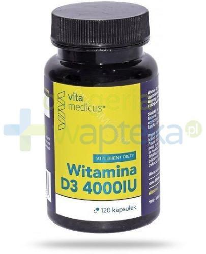 VitaMedicus witamina D3 4000UI 120 kapsułek  whited-out