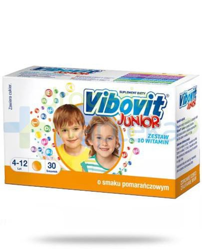 Vibovit Junior o smaku pomarańczowym 30 saszetek