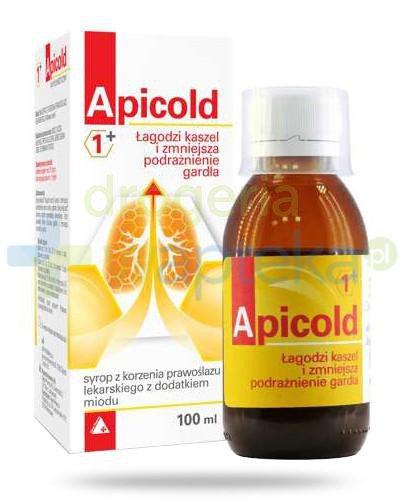 Apicold 1+ syrop z korzenia prawoślazu lekarskiego z dodatkiem miodu 100 ml