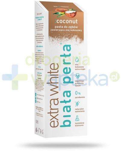Biała Perła Extra White pasta do zębów zawierająca olej kokosowy 75 ml