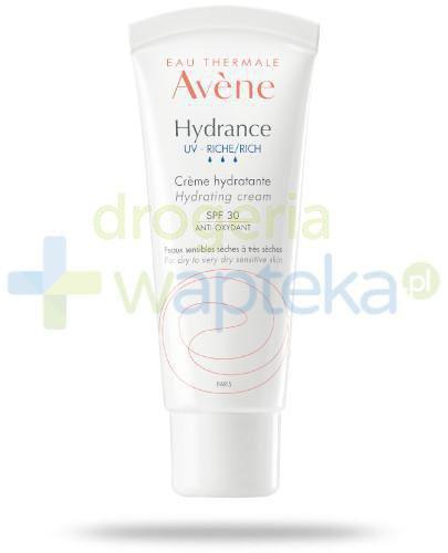 Avene Hydrance UV Bogaty krem nawilżający SPF 30 40 ml + delikatny tonik 100 ml [GRATIS]
