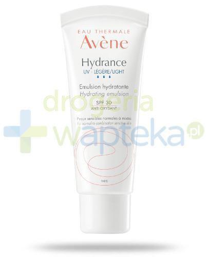 Avene Hydrance UV Lekki krem nawilżający SPF 30 40 ml + delikatny tonik 100 ml [GRATIS]