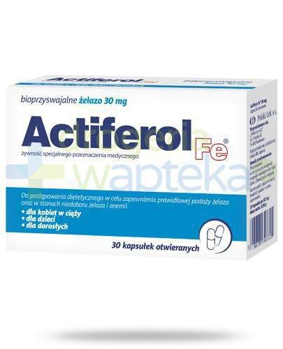 Actiferol Fe bioprzyswajalne żelazo 30mg 30 kapsułek