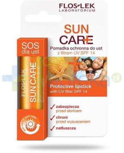 Floslek Sun Care pomadka ochronna do ust z filtrem UV SPF14 1 sztuka