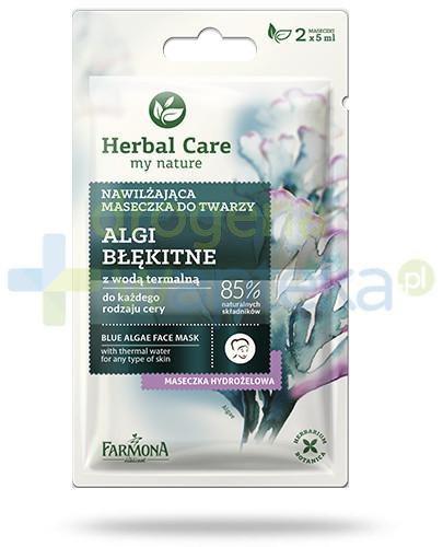 Farmona Herbal Care nawilżająca maseczka do twarzy algi błękitne 2 x 5 ml