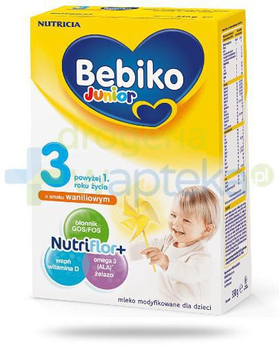 Bebiko Junior 3 NutriFlor+ o smaku waniliowym 350 g