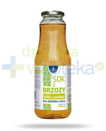 Oleofarm sok z brzozy z dodatkiem soku z jabłek bez dodatku cukru, 1000 ml
