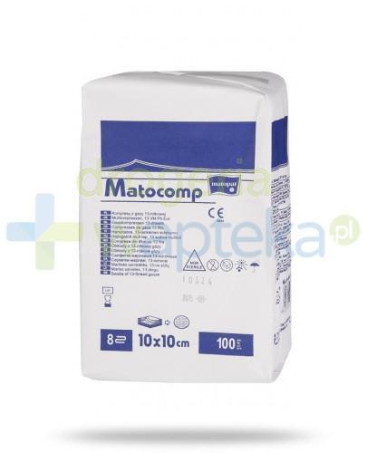Matocomp kompresy niejałowe z gazy 17-nitkowej 8 warstwowe 10x10cm 100 sztuk