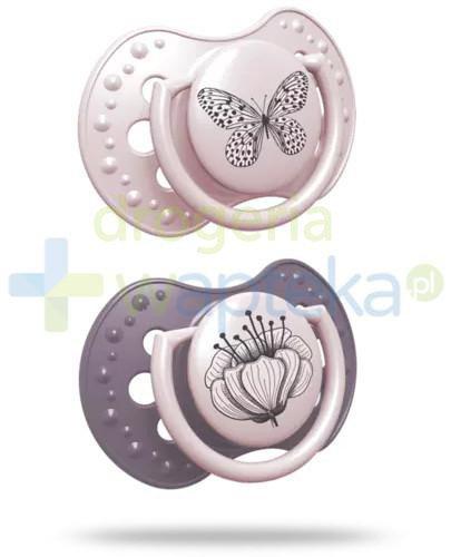 LOVI Botanic Girl smoczek silikonowy dynamiczny 6-18m 2 sztuki [22/871girl]