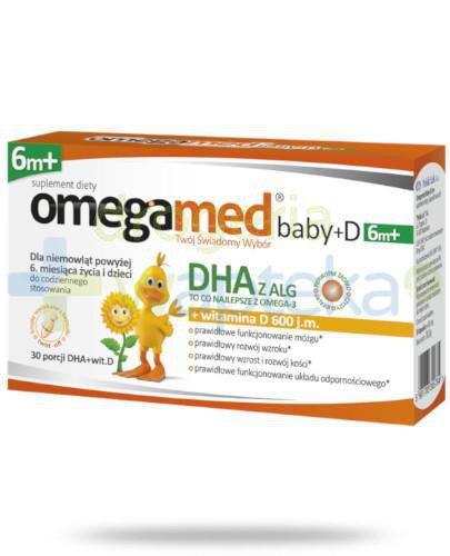 Omegamed Baby+D DHA z ALG + witamina D 6m+ 30 kapsułek