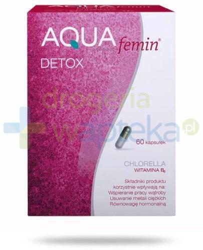 Aqua femin Detox 60 kapsułek   whited-out