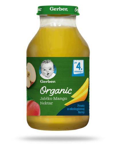 Nestlé Gerber Organic jabłko, mango nektar dla dzieci 4m+ 200 ml