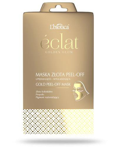 Lbiotica Eclat Golden Glow maska złota peel-off 1 sztuka