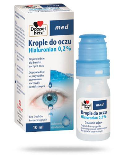 Doppelherz Krople do oczu Hialuronian 0.2 % 10 ml