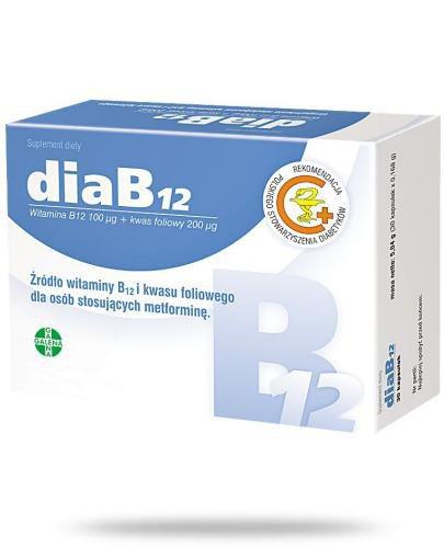 DiaB12 witamina B12 100μg i kwas foliowy 200μg 60 kapsułek
