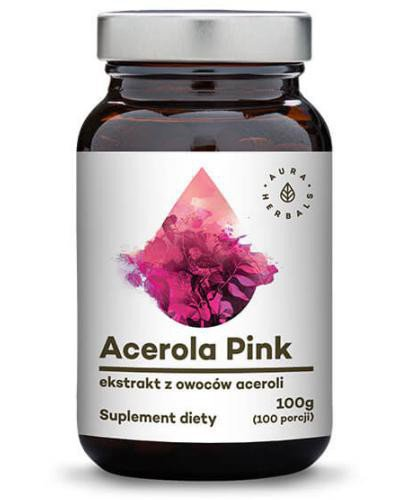 Aura Herbals Acerola Pink 25% ekstrakt z owoców 100 g  [Data ważności 24-09-2020] + Ace...