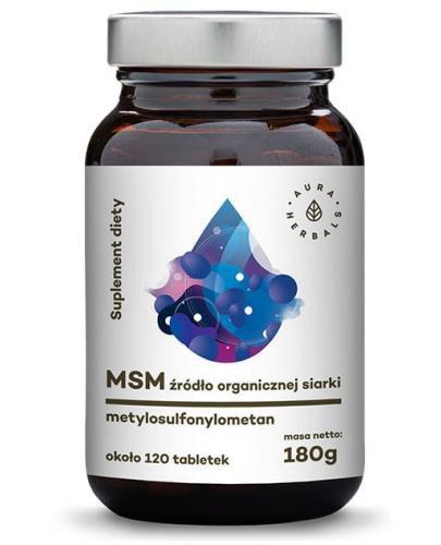 Aura Herbals MSM organiczny związek siarki 120 tabletek (180g)